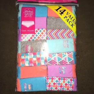 Other - Little Girls Hipster Underwear 14 Pack NWT